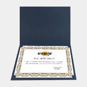sertifika kabı